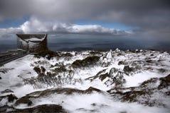 dramatyczna cloudscape góra Wellington zdjęcie royalty free