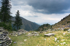 dramatyczna krajobrazowa góra Obraz Royalty Free