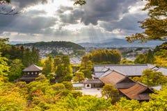 Dramatyczna panorama Kyoto fotografia royalty free