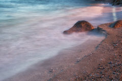 Dramatyczna plaża Fotografia Royalty Free