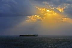 Dramatyczne chmury Zdjęcia Royalty Free