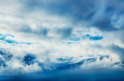Dramatyczne chmury Fotografia Royalty Free