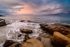 Dramatyczne chmury nad Pacyfik Obrazy Stock