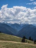 Dramatyczne cumulus chmury Obrazy Stock