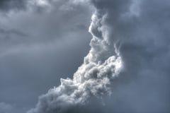 dramatyczne fluffy niebo Obrazy Stock