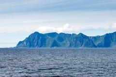 Dramatyczne góry i szczyty na Lofoten, Nordland, Norwegia zdjęcia royalty free
