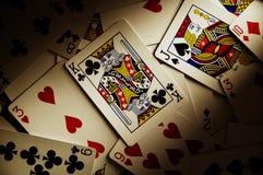 dramatyczne karty grać zdjęcie stock