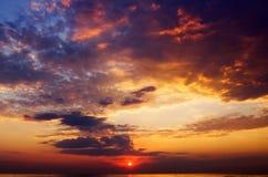 dramatyczne niebo Zdjęcia Stock