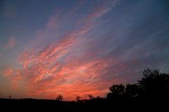 dramatyczne słońca Fotografia Royalty Free