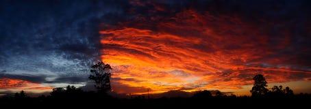 dramatyczne słońca Zdjęcie Royalty Free