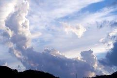 dramatyczne tła niebo Zdjęcia Stock
