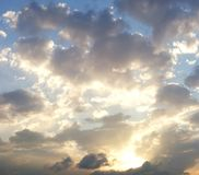 dramatyczne zachmurzone niebo lato Obraz Stock