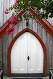 Dramatyczni dębowi drewniani kościelni drzwi Zdjęcia Stock