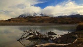 Dramatyczny świt w Torres Del Paine, Chile zbiory