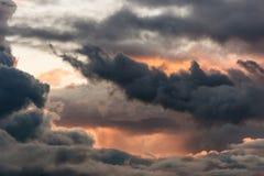 dramatyczny chmury Obraz Royalty Free