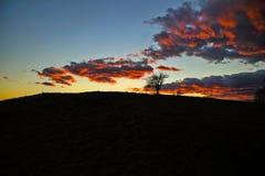 dramatyczny czerwony niebo Zdjęcia Royalty Free