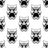 Dramatyczny doodle nakreślenie maskuje bezszwowego tło Zdjęcie Stock