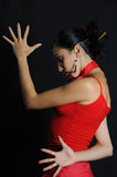 dramatyczny hiszpański tancerkę. Obraz Stock