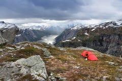 Dramatyczny krajobraz - Norwegia Zdjęcie Stock