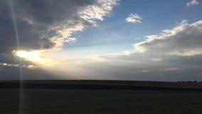 Dramatyczny lato ranku krajobraz zdjęcie wideo
