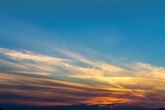 Dramatyczny mroczny niebo Zmierzch półmrok Obraz Royalty Free