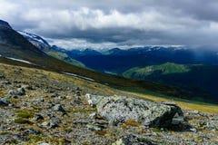 Dramatyczny niebo i krajobraz w Norway Obrazy Stock