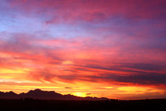 dramatyczny otwarte niebo Obraz Royalty Free