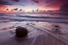 Dramatyczny seascape przy Kuala Penyu, Sabah, Malezja fotografia stock
