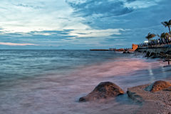 Dramatyczny Seascape zmierzch obraz stock