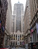 Dramatyczny widok Chicagowski ` s Pieniężny okręg obraz stock