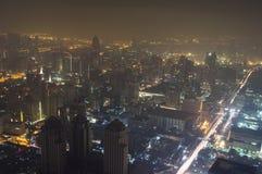 Dramatyczny widok z lotu ptaka Bangkok, Tajlandia Fotografia Stock