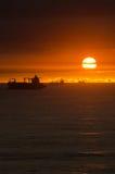 Dramatyczny wschód słońca Zdjęcia Royalty Free