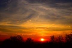 Dramatyczny wschód słońca Zdjęcie Royalty Free