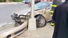 dramatyczny wypadek samochodowy obraz stock