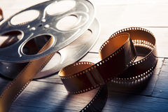 Dramatyczny zaświecający wizerunek film rolka Zdjęcie Stock