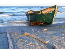 Dramatyczny zmierzch na Corbu plaży przy Czarnym morzem, Rumunia, jeden piękna dziewicy plaża w Europa obraz stock