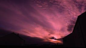 Dramatyczny zmierzch Skys Nad Largs Szkocja w upływie zdjęcie wideo