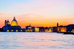 Dramatyczny zmierzch w Wenecja obrazy royalty free