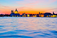 Dramatyczny zmierzch w Wenecja fotografia royalty free
