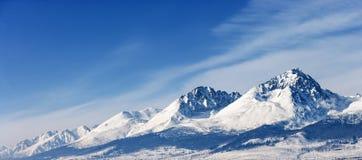 Dramatycznych szczytów pinakli szczytów dużej wysokości góry śnieżny pa Obrazy Stock