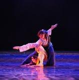Drame de danse de yoga-Le d'amour la légende des héros de condor Image libre de droits