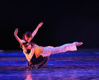 Drame de danse de yoga-Le d'amour la légende des héros de condor Images libres de droits