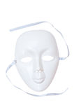 Dramma bianco della mascherina immagini stock libere da diritti
