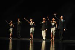 Dramma con protagonista di ballo di chiamata-tango della tenda Immagine Stock Libera da Diritti