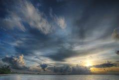 Dramma nelle nubi Fotografie Stock Libere da Diritti