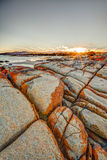 Bay of Fires. Drammatic landscape in The Gardens, Bay of Fires consevation Area ranging from Binalong Bay to Eddystone Point, east coast of Tasmania in Australia Royalty Free Stock Photos