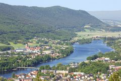 Drammen and its valley in close up Stock Photo