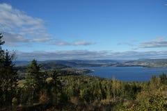 Drammens fjord Royaltyfri Fotografi