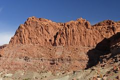 Dramtic Cliffs in the Desert Royalty Free Stock Photography