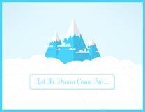 Dramy berglandskap Låt drömmarna komma det riktiga romantiska inspirerande begreppet Royaltyfria Foton